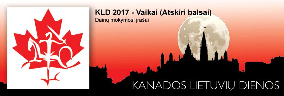 KLD 2017 - Vaikai (Atskiri balsai)