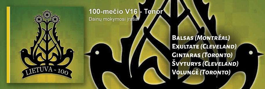 100-mečio V16 - Tenor